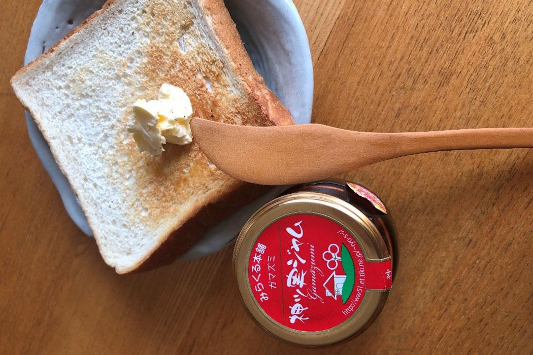 神ツ実ジャムと食パン