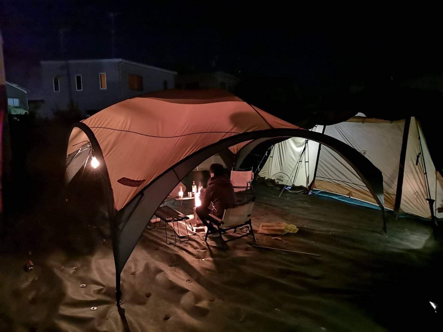裏庭テント